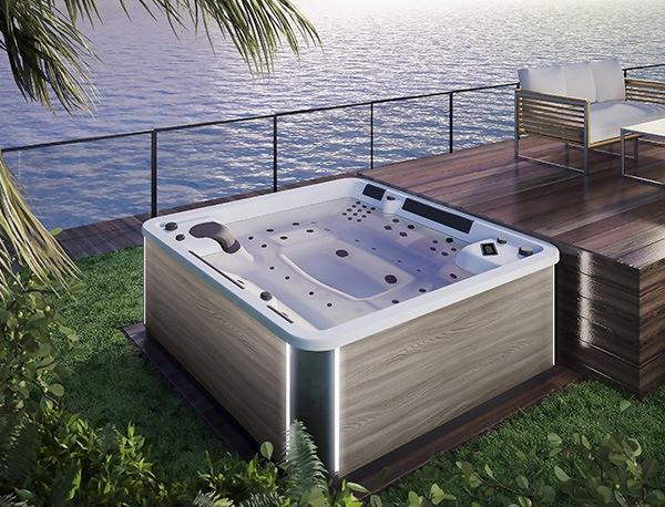 spa concept luxembourg belgique massage massant spa positions a600 2 bois clair lumineux tablier rattan