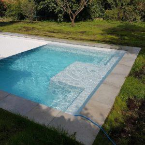 Galaxite 20 fond incline spa concept couverture luxembourg belgique tendances profondeur Coque polyester piscine fond plat