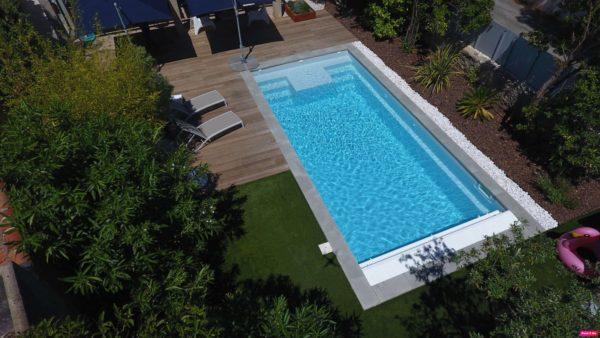 Galaxite 202 fond incline spa concept couverture luxembourg belgique tendances profondeur Coque polyester piscine fond plat