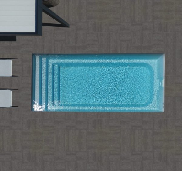 cobalt 2020 fond plat spa concept couverture luxembourg belgique tendances profondeur Coque polyester piscine fond plat