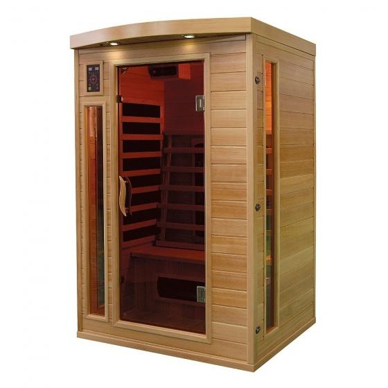sauna a infrarouge bois canada hemlock 1800 w 2 pers sek cp2