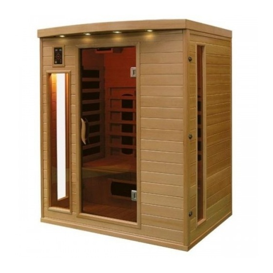 sauna a infrarouge bois canada hemlock 2070 w 3 pers sek cp3