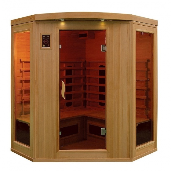 sauna a infrarouge bois canada hemlock 2430 w 3 4 pers