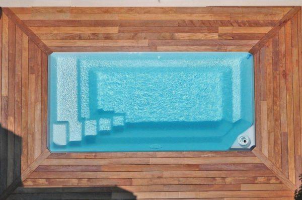 starlite fond incline spa concept couverture luxembourg belgique tendances profondeur Coque polyester piscine fond plat